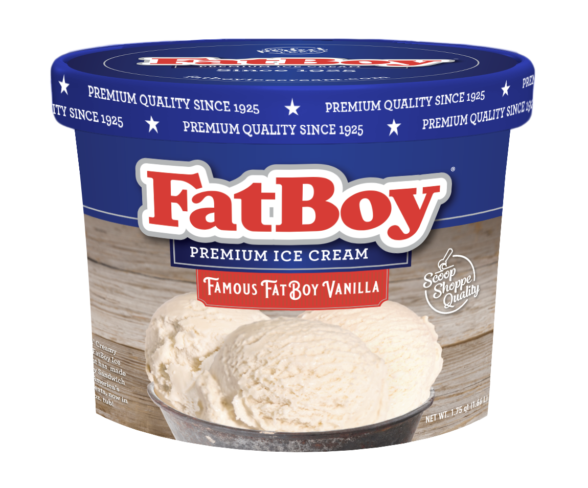 Famous FatBoy Vanilla Ice Cream 56 oz Tub